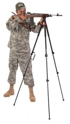 Bog-Pod® TAC 3- Tactical Tripod Tall - 735540 kim stanging