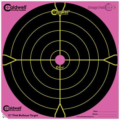 Orange Peel® Bullseye Targets - 12inch PINK bullseye