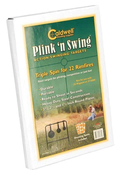 Caldwell® Plink N' Swing™ .22 Rimfire Triple Spin Target - 147072 packaged
