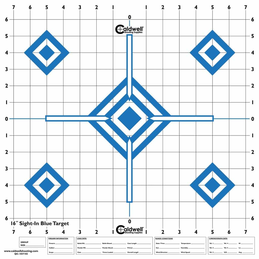 High-Contrast Sight-In Targets - 198604 16inch blue target1