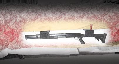 Night Guardian Gun Holster, Long Gun - 222503 bed ghost shotgun light