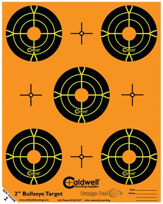 Orange Peel® Bullseye Targets - 2inch bullseye