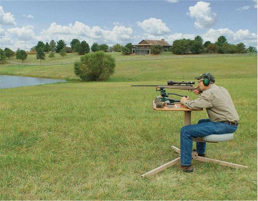 BR Pivot® Shooting Bench, Butcher Block Top  (Drop Ship PPD) - 300015 action 1