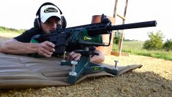 The Rock™ Shooting Rest and Rear Bag Combo - 383640 Range Action About To Shoot 250x141