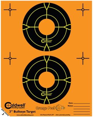 Orange Peel® Bullseye Targets - 3inch bullseye