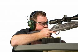 Caldwell® E-Max® Low Profile Electronic Hearing Protection - 487557 action profile rifle stabletable 250x167