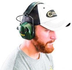 Caldwell® E-Max® Electronic Hearing Protection - 497700 action headshot 250x243