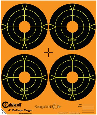 Orange Peel® Bullseye Targets - 4inch bullseye