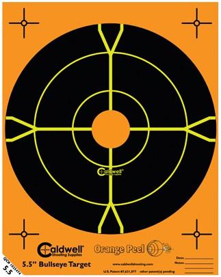 Orange Peel® Bullseye Targets - 5 half inch bullseye