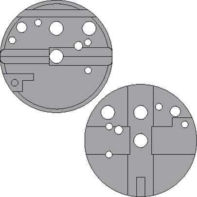 Universal Bench Block - 672215 faces diagram