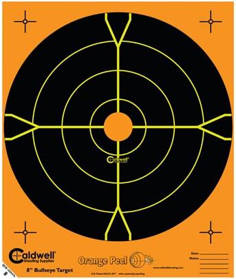 Orange Peel® Bullseye Targets - 8inch bullseye