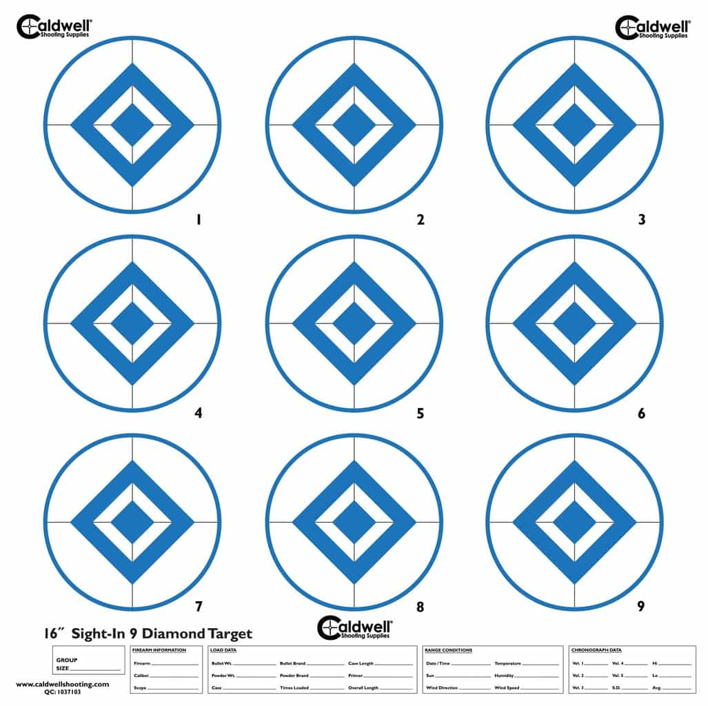 High-Contrast Sight-In Targets - 966893 16inch 9 diamond target1