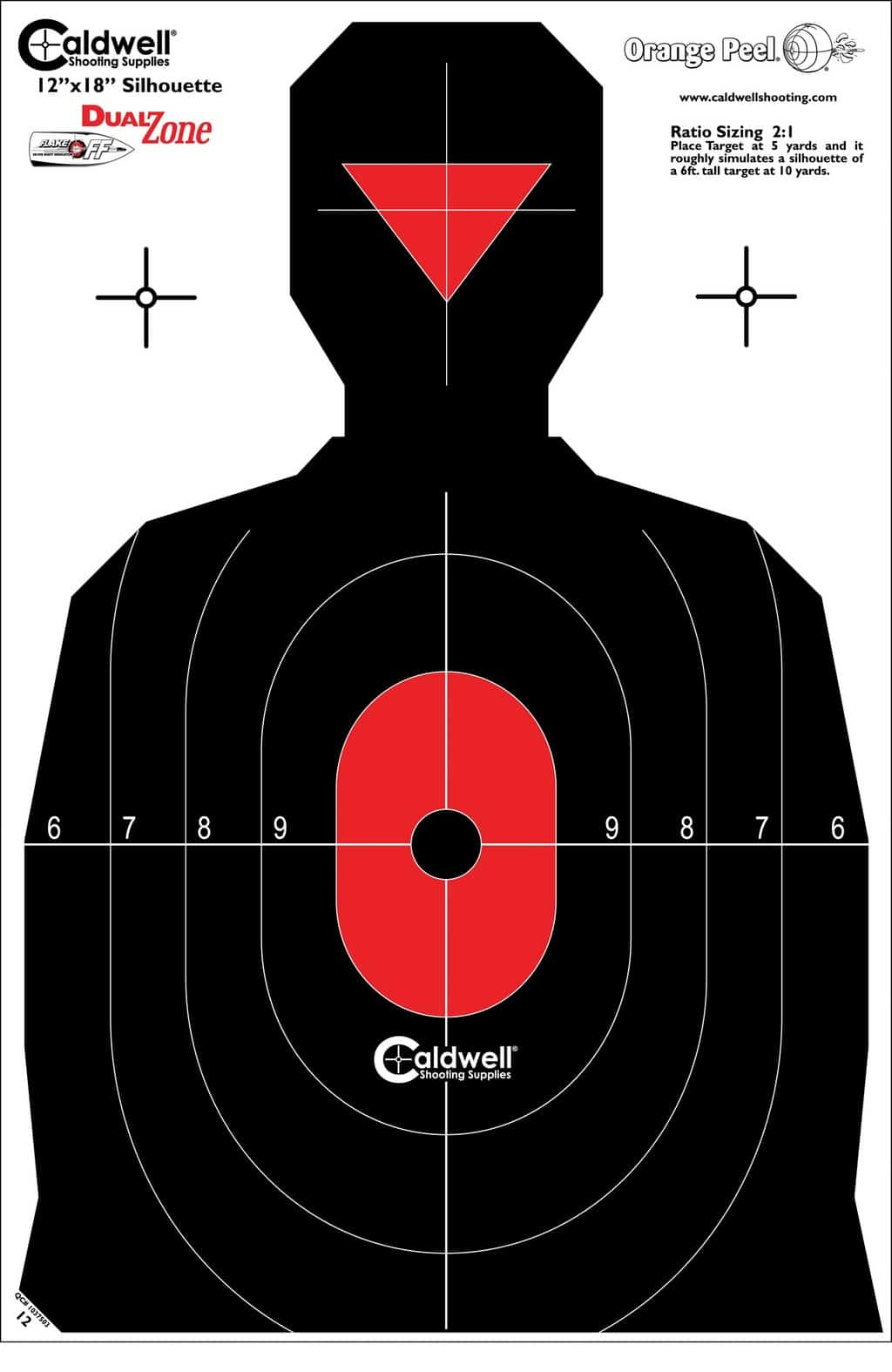 Clever image with printable silhouette shooting targets