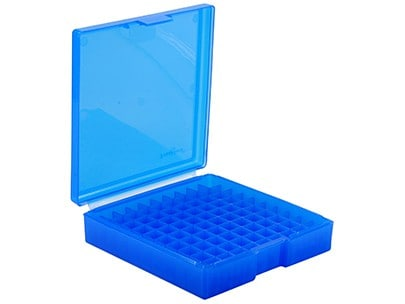 #1005, 222-223 100 ct. Ammo Box (Must order in Multiples of 10) - Frankfrod Ammo Box 100 Round Blue