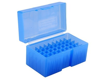 #506, 480 Ruger-50 AE 50 ct. Ammo Box (Must order in Multiples of 10) - Frankfrod Ammo Box 50 Round Blue