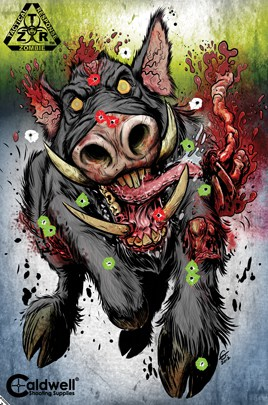 Z.T.R. Flake Off Targets - caldwell zombie boar target shotup