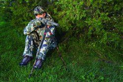 Bog-Pod® SB-2C Camo Bipod - 735563 action sitting shotgun treeline 2 250x167
