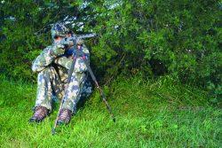 Bog-Pod® SB-2C Camo Bipod - 735563 action sitting shotgun treeline 250x167