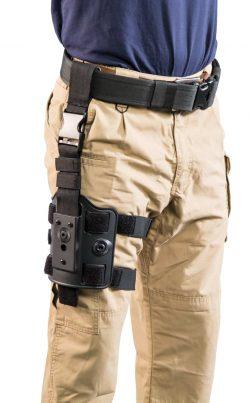 Tac Ops Drop Leg Rig - 110085 action 3qtr dropleg along 250x403