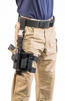 Tac Ops Drop Leg Rig - 110085 action 3qtr dropleg full loaded MP holster 250x385
