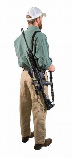 AR Modular Dual Point Sling Kit - 156216 action on kyle back shouldersling 250x551