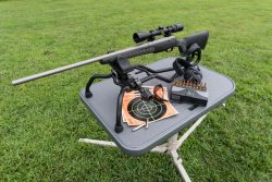 Stinger Shooting Rest - 110033 On Stable Table Top Down 250x167