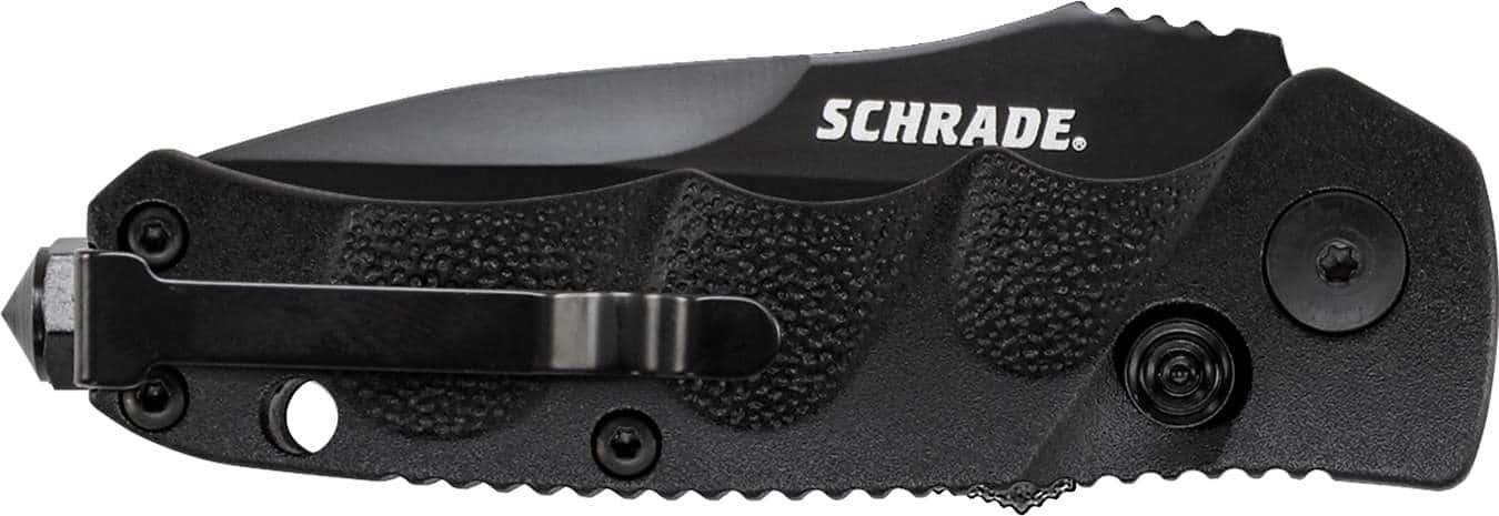 SC60MB - Schrade® Mini Push Button Lock Folding Knife Drop Point Blade -  Battenfeld Technologies
