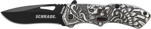 SCHA16B - Schrade® Boneyard Series Lazy Bones M.A.G.I.C. Assisted Opening Liner Lock Folding Knife - SCHA16B e1505400930948
