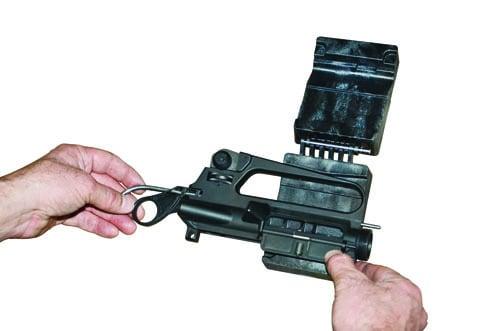 Delta Series AR-15 Upper  Vise Block Clamp - 156444 demo open