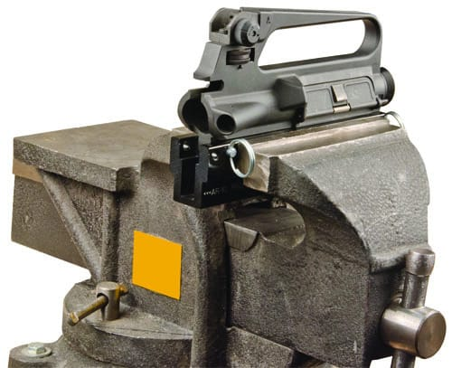 Delta Series AR Upper / Pic Rail Vise Block - 156888 AR upper inserted