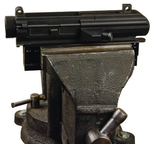 Delta Series AR Upper / Pic Rail Vise Block - 156888 picrail inserted 2
