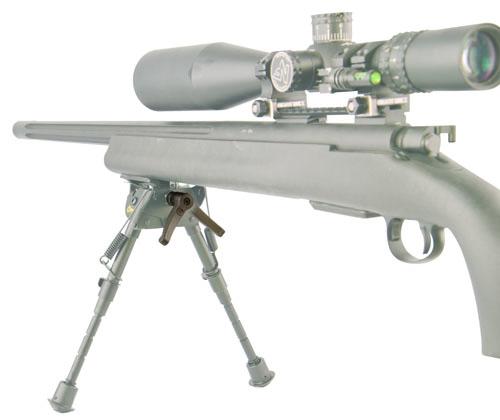 Caldwell® Bipod Pivot Lock - 535881 open bipod extended gun demo ghost