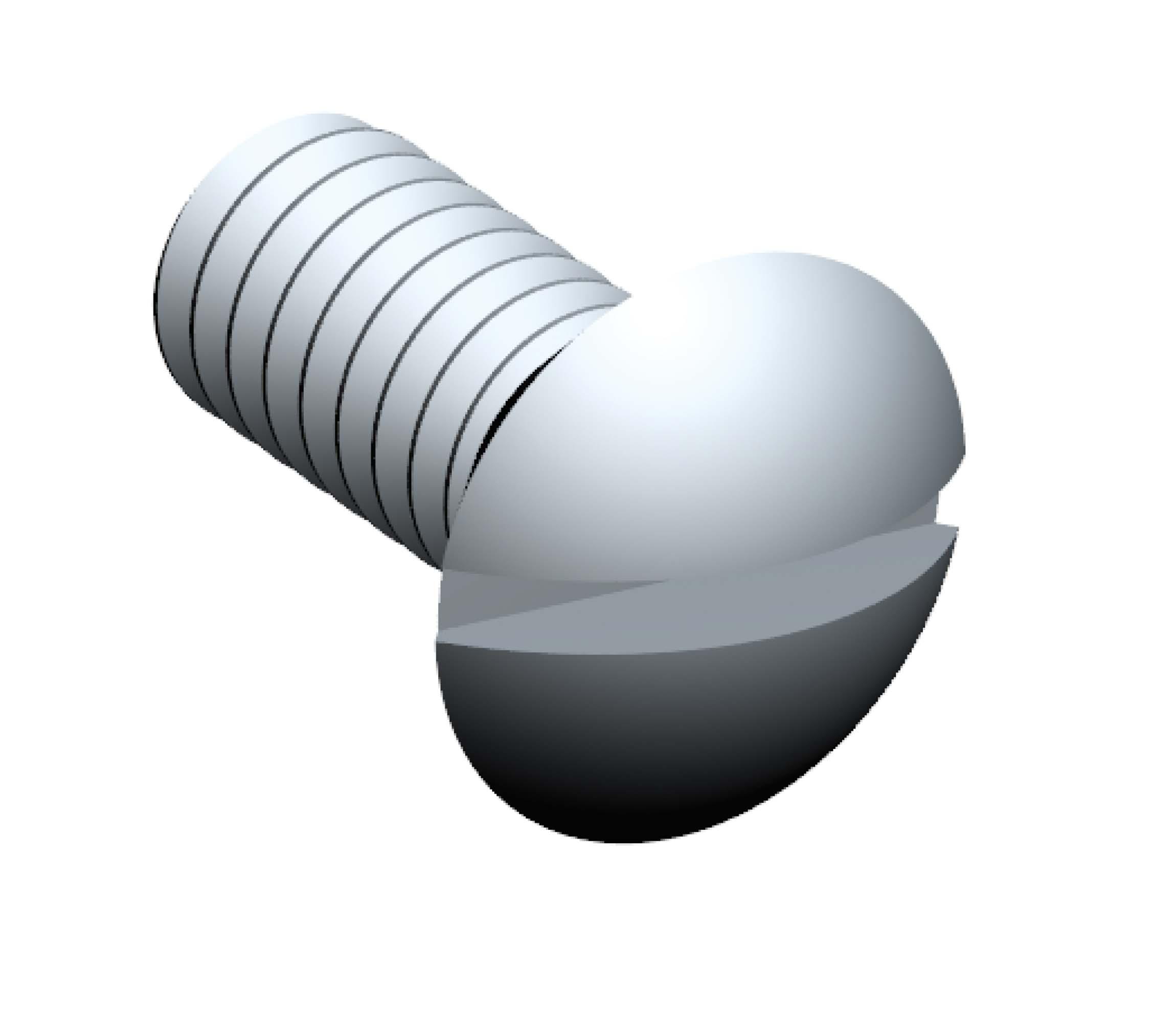 Optics Fastener Kit - 142434 slotted oval