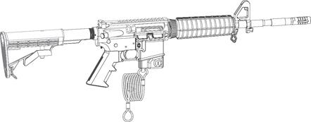 AR-15 Mag Well Lock - 222818 MAGLOCK IN GUN