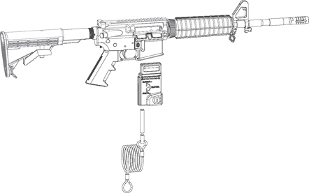 AR-15 Mag Well Lock - 222818 MAGLOCK OUT GUN