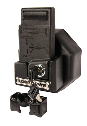 AR-15 Mag Well Lock with Wall Mount - 222819 Display With Mag Holder