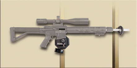 AR-15 Mag Well Lock with Wall Mount - 222819 Mag Lock with mount wall ghost