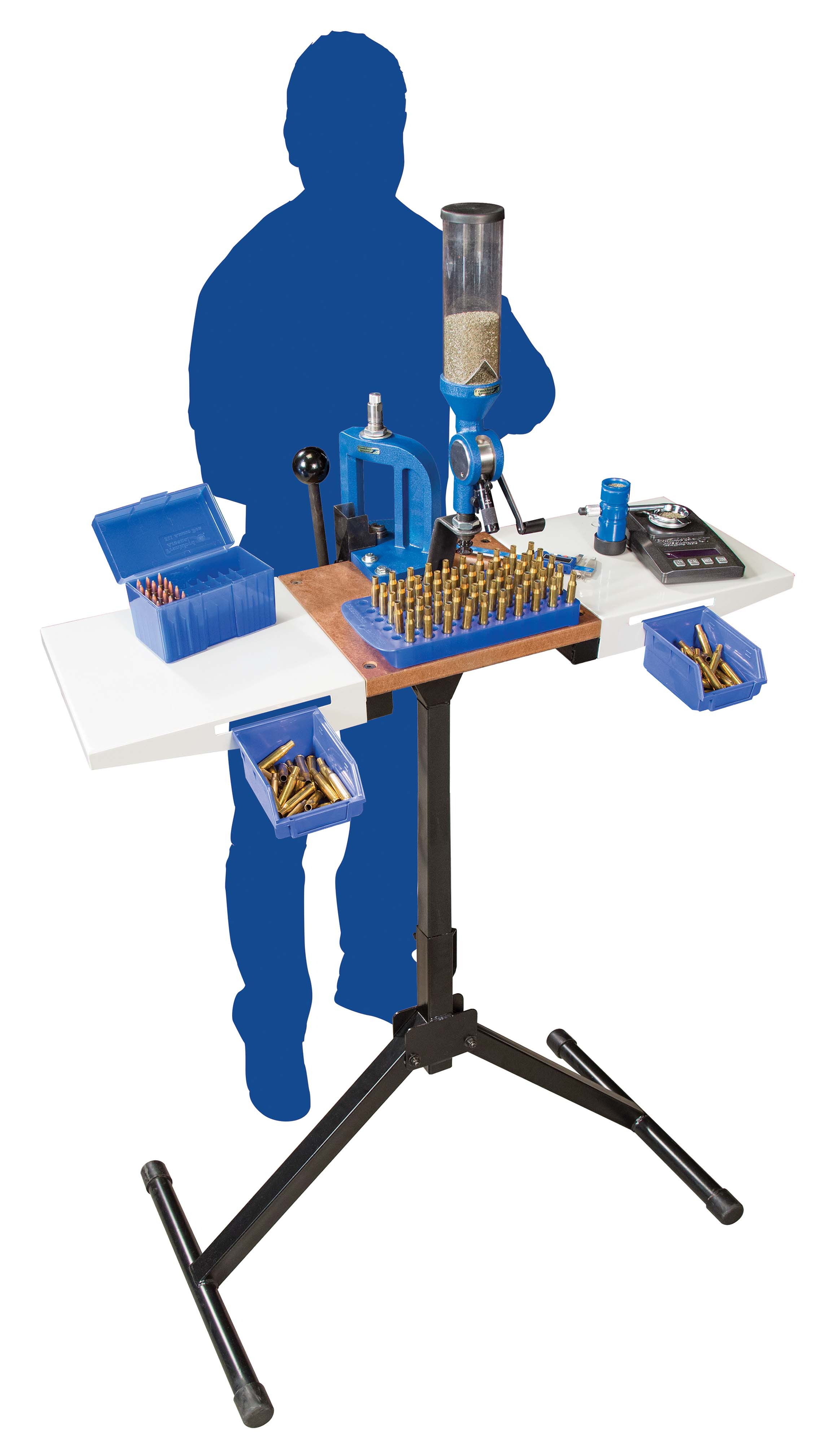 Platinum Series Reloading Stand - 489621 action standing sil