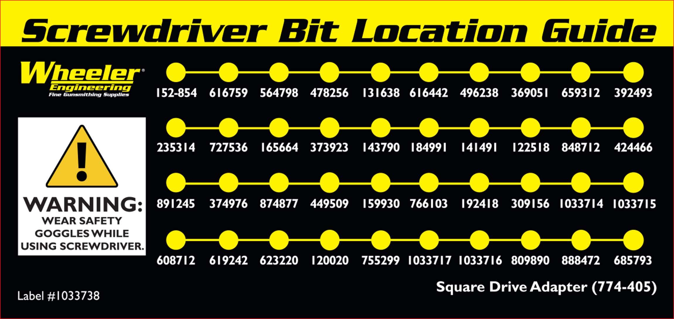 43 Piece Professional Gunsmithing Screwdriver Set - 954621 bit list